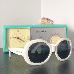 Dolce & Gabbana White Round Sunglasses